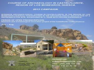 Europe - Spain - Curso - Excavaci�n arqueologica en Castelflorite, Huesca (Spain) - 2013