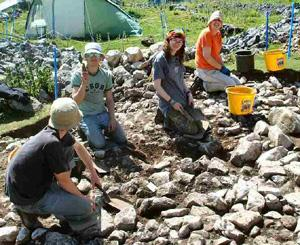 Europe - England - Yorkshire Dales Iron-Age Excavation - 2013